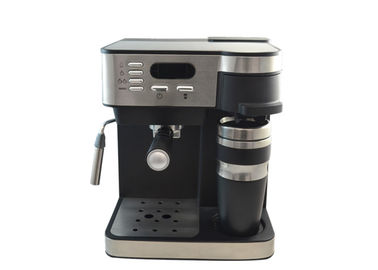 Kitchen Espresso Coffee Maker 8-10 Cups Digital 20Bar Black Silver With Frother