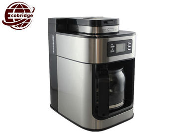 OEM 1.25L Home Coffee Machines Black Silver Grinder 300*200*310mm 220V-240V